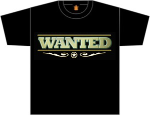 wanted mens shirt